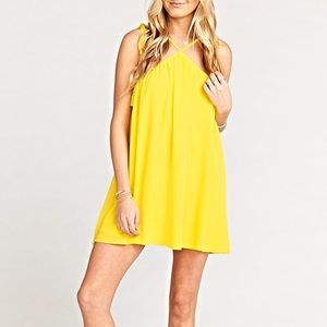 ShowMeYourMuMu Lexington Mini Dress Yellow L